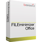 FILEminimizer reduces the size of Word, PowerPoint, and Excel files by up to 98% without changing their original formats.