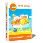 27 bright, colorful edutainment games for kids aged 5 and up.