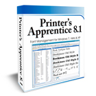 With Printer's Apprentice, you'll be able to browse, preview, and print TrueType, Adobe Type 1, and OpenType fonts without installing them or copying them to your hard drive.