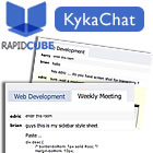 With KykaChat, your website becomes a fully functional realtime chat room, with the ability to share images and files in the same screen, on the same site.