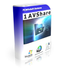 1AVShare lets you turn your PC into a web/file server, allowing you and your friends to securely and remotely access your files using any internet browser.