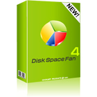 Disk Space Fan 4 identifies the file types that eat up disk space, plus it helps you to find and delete duplicate files.