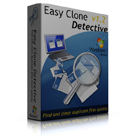 Easy Clone Detective gives you an extremely fast detection algorithm that roots out all of the duplicate files on your hard drive, even huge ones over 4GB.