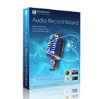 Audio Record Wizard works with your sound card to record any audio that plays through it, capturing audio as MP3, WAV, OGG, and FLAC files.
