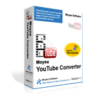 Moyea YouTube Converter can quickly download and convert YouTube videos for playback on many popular portable media devices.
