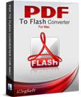 PDF to Flash Converter for Mac converts PDF documents to Macromedia Flash (SWF) files, enabling seamless viewing on the web, complete with page-flipping animations.