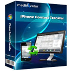 mediAvatar iPhone Contact Transfer is the easy way to transfer and backup your contacts from your iPhone to your PC as CSV or vCard files.