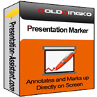 Presentation Marker lets you mark up your presentation right on screen, zoom into portions of your presentation, and draw your audience's attention.