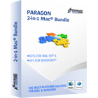 Paragon Mac Bundle: NTFS for Mac OS X 11 and HFS+ for Windows 10 allows full speed performance across all platforms for all volume formats.