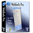 WebTools Pro is the HTML designer's must-have box of tricks. Use this handy toolbox to run reports and analyze your HTML in a variety of different ways.