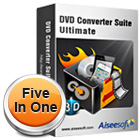 Aiseesoft DVD Converter Suite Ultimate lets you rip DVDs, convert videos, create DVDs, and transfer videos to your iPhone, all in one handy package.