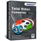 Aiseesoft Total Video Converter Platinum lets you convert videos between a variety of popular file formats, while also extracting audio from video files.