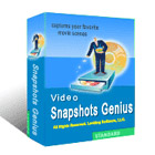 Video Snapshots Genius provides a simple and elegant interface for capturing screenshots from a movie or video file.