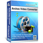4Videosoft Archos Video Converter converts video and audio files to formats that are perfectly compatible with all Archos products.