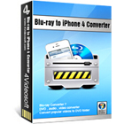 4Videosoft Blu-ray to iPhone 4 Converter lets you convert Blu-ray, DVD, and video file content to formats compatible with the iPhone 4.
