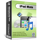 4Videosoft iPod Mate is a set of five utilities that convert video, transfer file, backup SMS and contacts, and create ringtones for your iPod and iPhone.