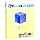 CRYPT in the BOX 2013 lets you easily encrypt your most important files, just by adding them to a special folder or using the program's interface.
