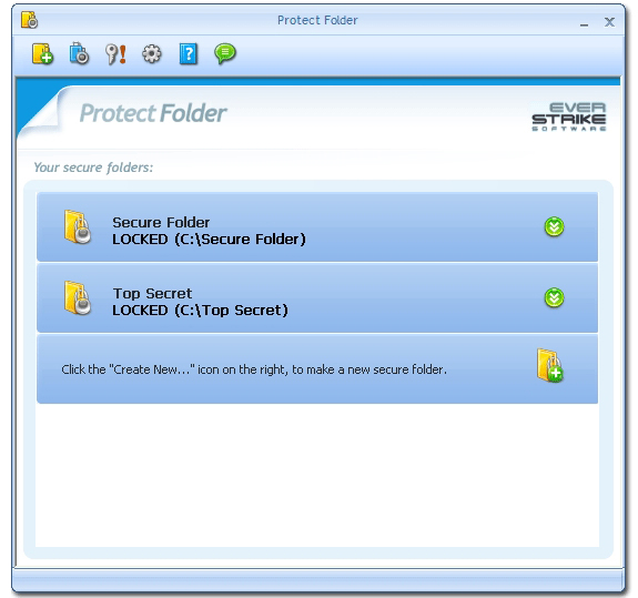 Protect Folder Screenshot