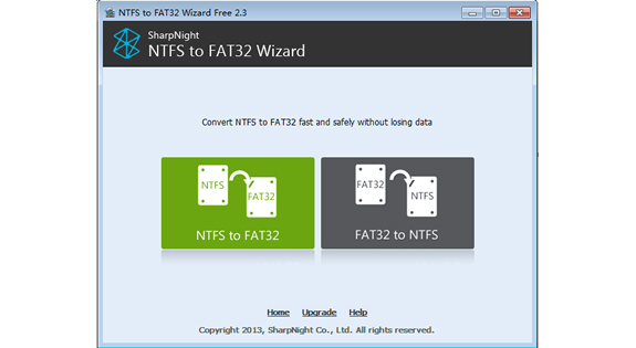 how to change ntsf to fat32