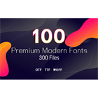 100 Premium Modern Fonts (Mac & PC) Discount