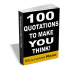 100 Quotations to Make You Think! (Mac & PC) Discount