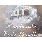 40 Handmade Fonts (Mac & PC) Discount