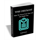 Time Checklist - Make the Most of Your Time with One Simple ToolDiscount