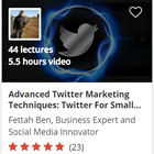 Advanced Twitter Marketing Techniques: Twitter For Small biz (Mac & PC) Discount