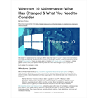 Windows 10 Maintenance: What Has Changed and What You Need to ConsiderDiscount