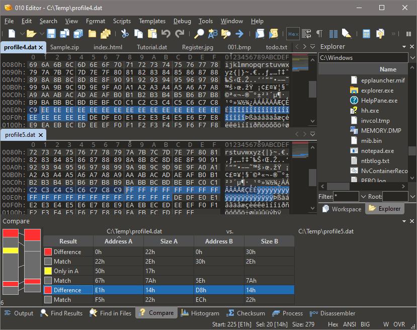 010 Editor, Code Editor Software Screenshot