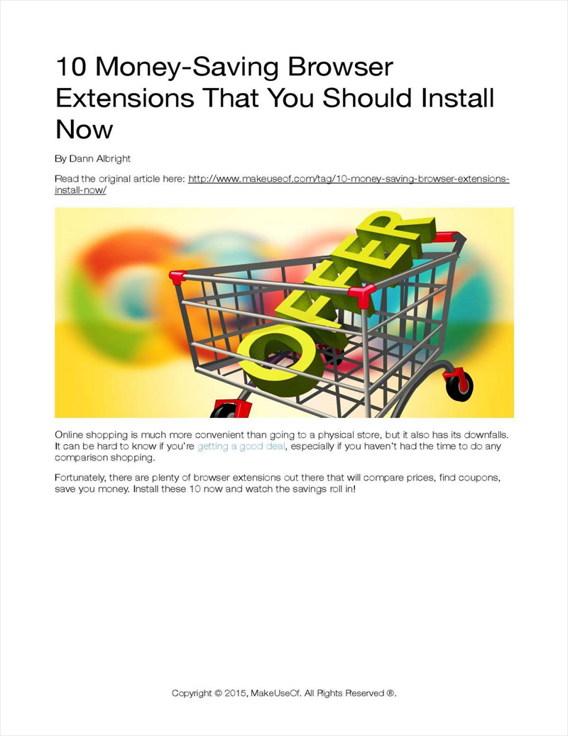 10 Money-Saving Browser Extensions That You Should Install Now Screenshot
