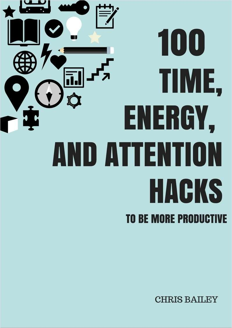100 Time, Energy, and Attention Hacks to be More Productive Screenshot