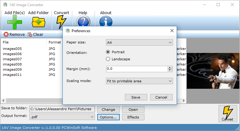 1AV Image Converter, Batch Image Software Screenshot