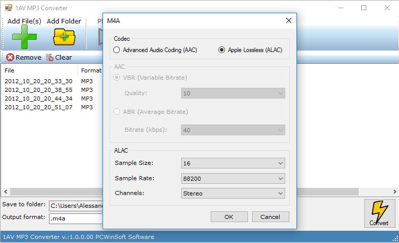 1AV MP3 Converter, Audio Conversion Software Screenshot