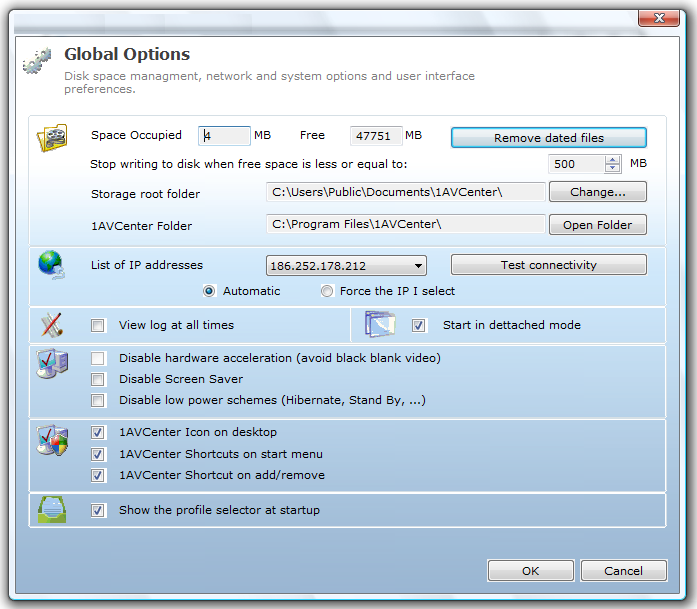 1AVCenter, Video Capture Software Screenshot
