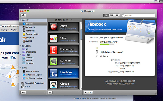 1Password for Mac and Windows, Password Manager Software Screenshot
