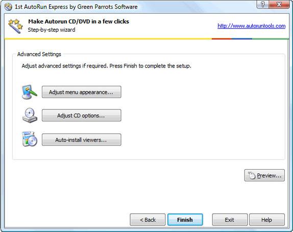 Video Software, 1st Autorun Express Screenshot