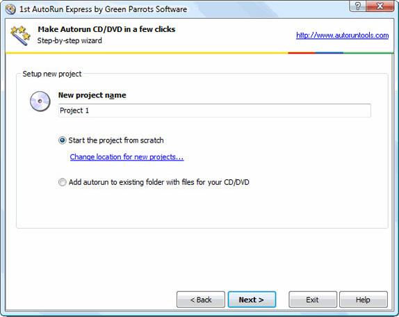 1st Autorun Express, DVD Authoring Software Screenshot