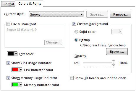 1st Clock, Desktop Customization Software, Clock Software Screenshot