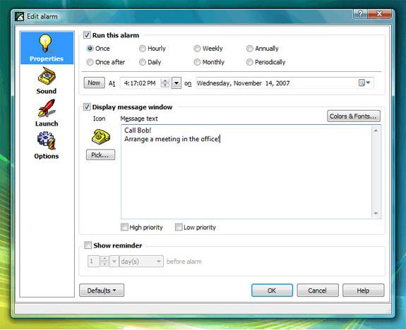 1st Clock, Desktop Customization Software Screenshot