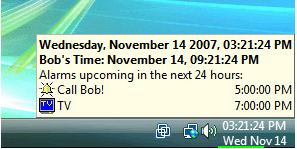 Clock Software, 1st Clock Screenshot
