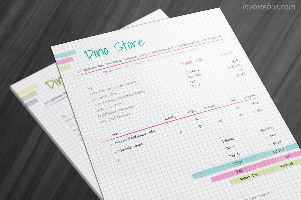 40+ Interactive Invoice Templates Screenshot 9