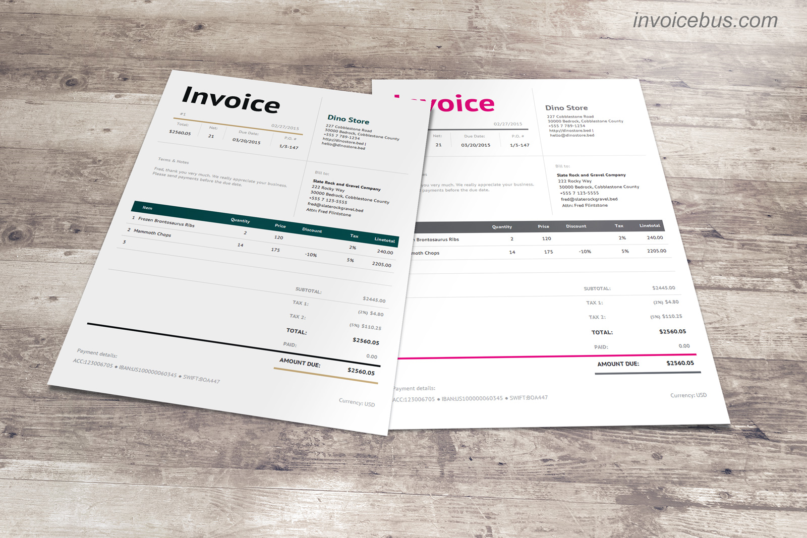 40+ Interactive Invoice Templates, Business & Finance Software Screenshot
