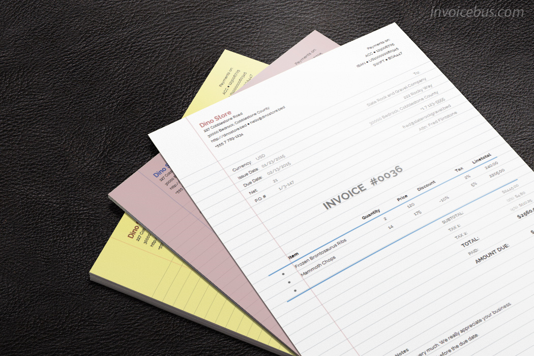 40+ Interactive Invoice Templates Screenshot 13