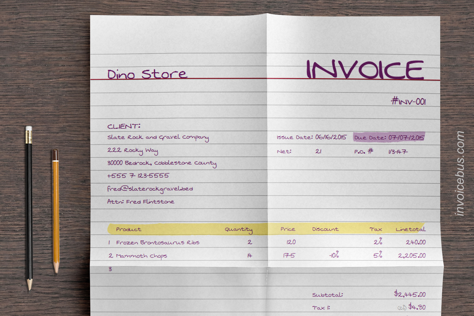 40+ Interactive Invoice Templates Screenshot 15