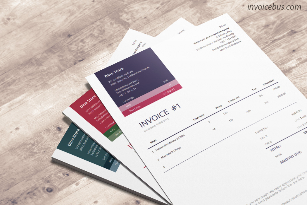 Accounting Software, 40+ Interactive Invoice Templates Screenshot