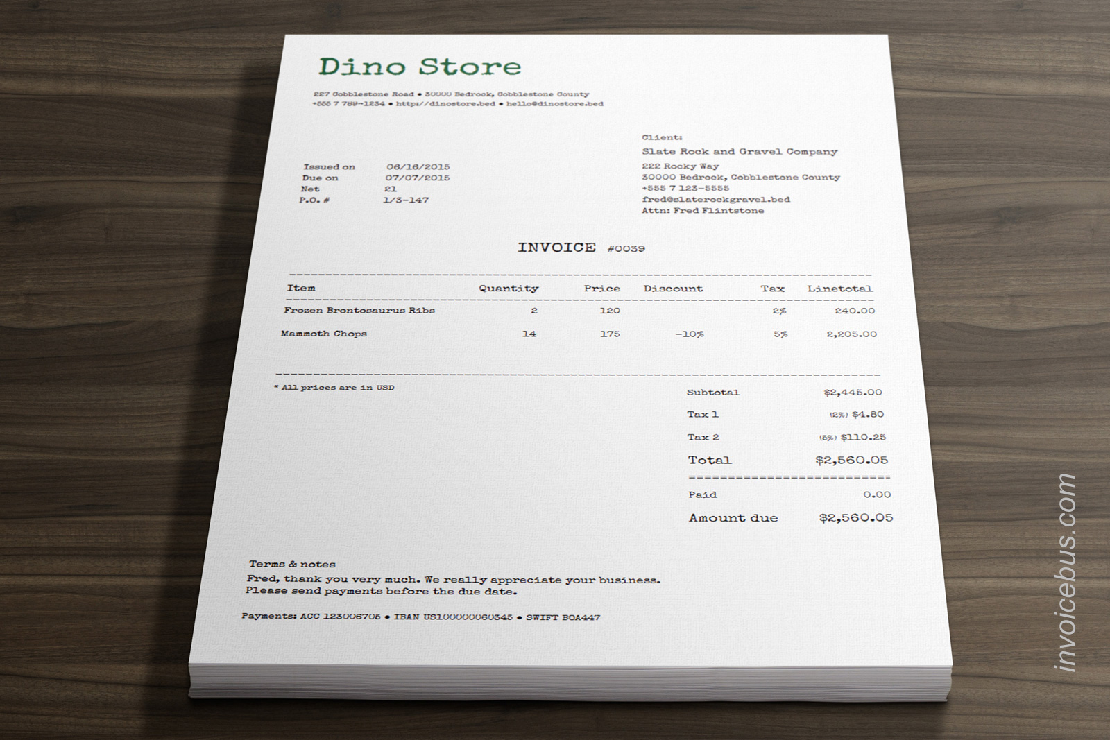 40+ Interactive Invoice Templates Screenshot 16