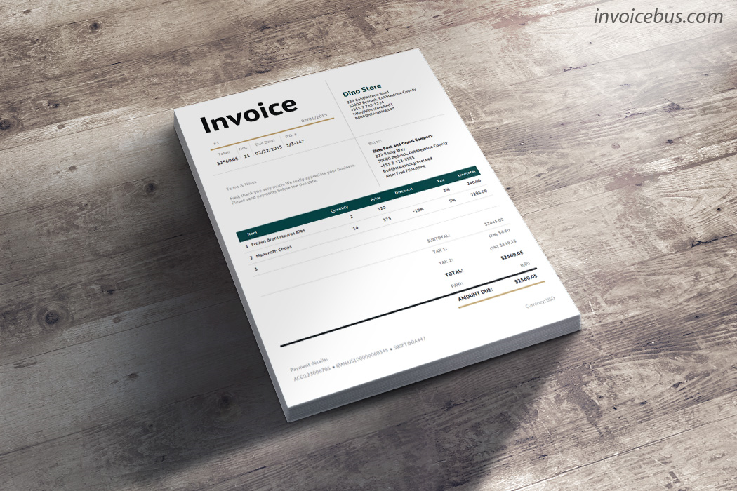 40+ Interactive Invoice Templates Screenshot 14