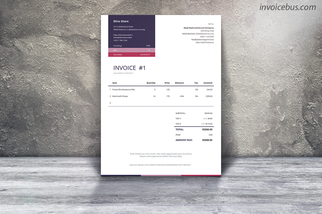 40+ Interactive Invoice Templates, Accounting Software Screenshot