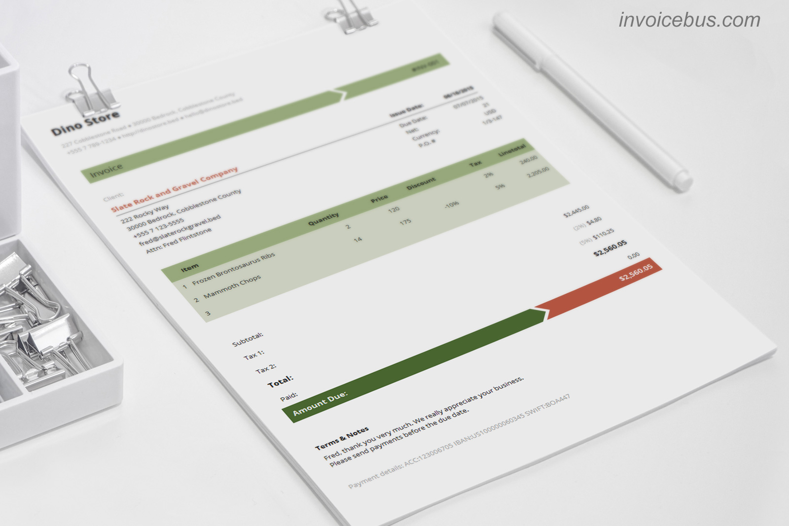 40+ Interactive Invoice Templates, Business & Finance Software, Accounting Software Screenshot